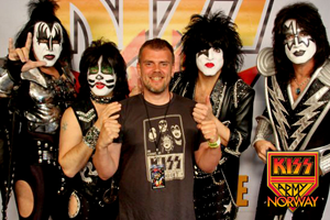 Kiss and me in Trondheim 2010